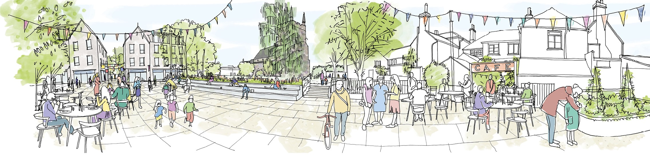 Re-energised town centre artistic impression